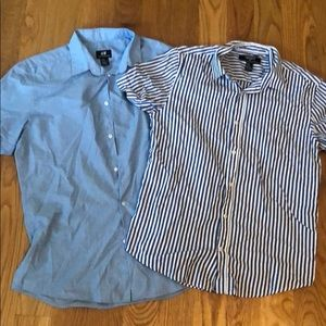 2 pack men's button down shirts